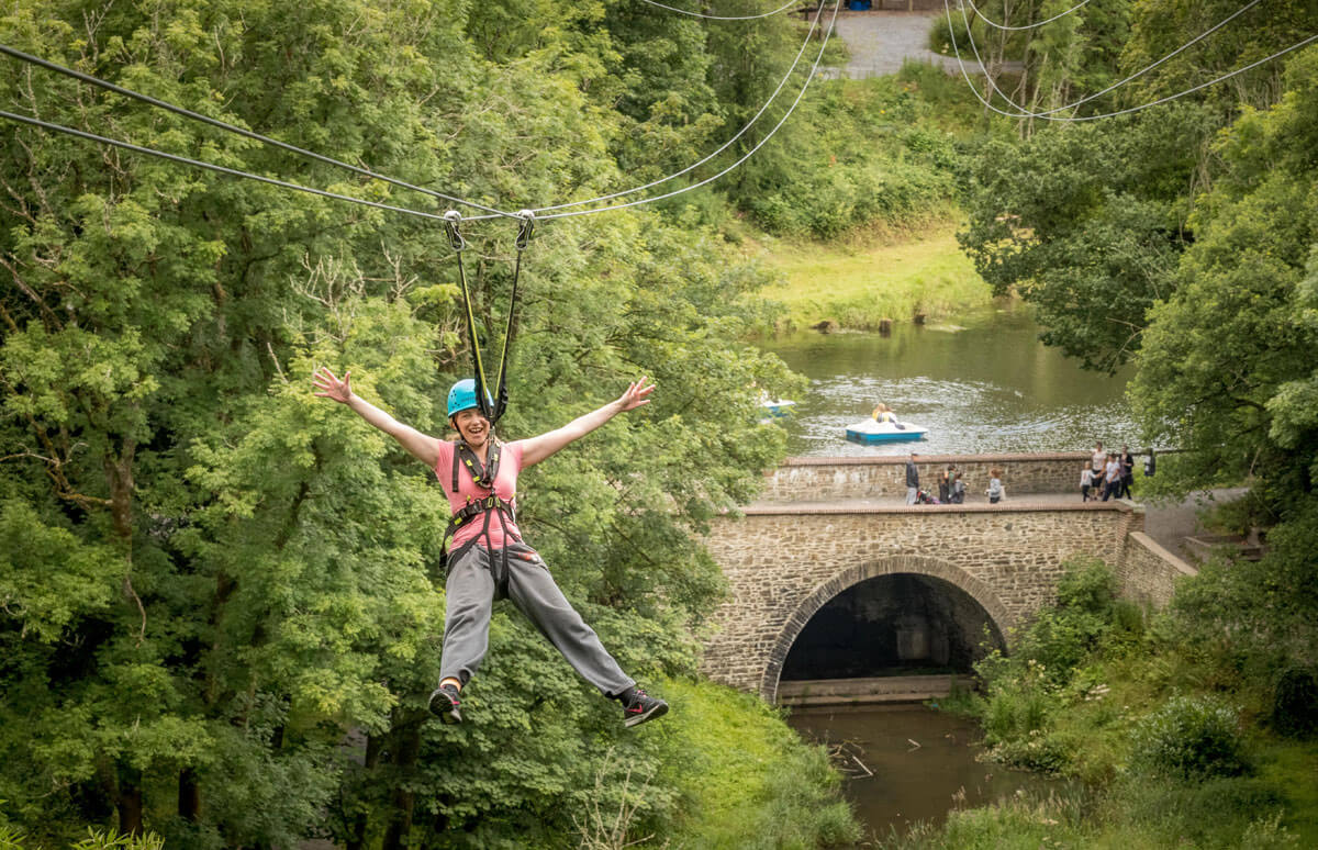 Zipline and Octagon Castlecomer Discovery Park in Kilkenny on