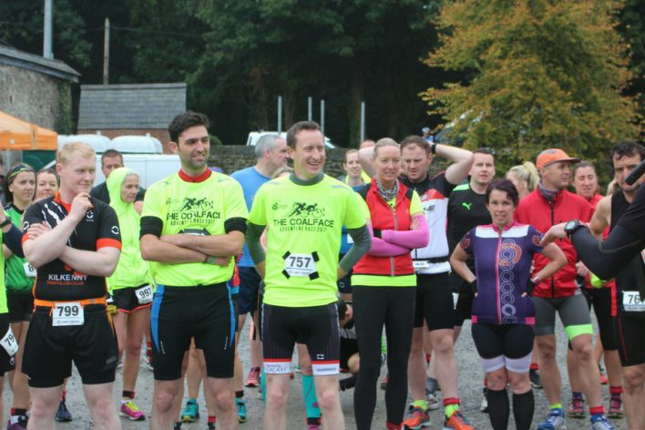 Group of runners partaking in Coalface Adventure Race