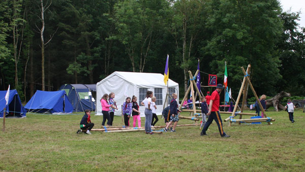 Camping at Castlecomer Discovery Park